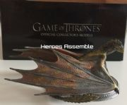 Game Of Thrones Official Collector's Models Premium Dragon #2 Viserion Figurine & Magazine Eaglemoss